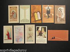 ENSEMBLE de 10 IMAGES PIEUSES VARIÉES EN COULEUR. ANNÉES 1950 - 1960.