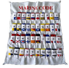 100% COTTON -  Nautical Sailboat Boating Signal Code FLAG - 40 flag with CASE