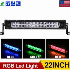 Multicolor RGB 22inch LED Light Bar 320W 32000LM Spot Flood Combo Strobe Driving