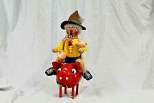 Steinbach Man Riding Piggy Bank Smoker