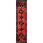 2 x 8 ft Traditional Interior Runner Area Rug Vintage Hamadan Shed Orange Plush