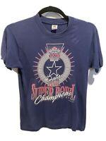 Vintage Dallas Cowboys 1993 XXVII Super Bowl Champions T-Shirt Medium Blue
