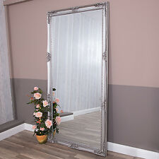 Extra Large Silver Mirror Full Length Wall Ornate Bedroom Hallway Huge 200x100cm