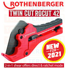 Rothenberger 2in1 Rocut 42 Twin Cut Plastic Pipe Shears Cutter Ratchet Plumbers