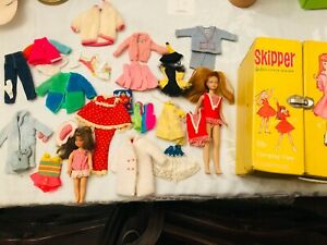 Vintage Skipper and Tuti lot of clothes and dolls