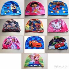 Childrens Character Swim Cap Hygiene Hats Swimming Holiday Frozen Minion NEW