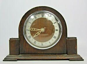Vintage Bentima Wooden Slim Mantle Clock Collectable