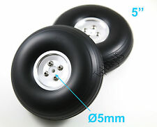"1Pc(not pair) of 5"" Light Weight RC Plane PU Wheels Aluminum Alloy Hub 006-04015"
