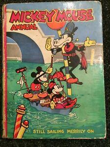 MICKEY MOUSE Annual (Dean & Son) DISNEY Still Sailing Merrily On. RARE 1936/7!