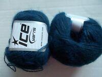 Ice Yarns Mohair Fine wool blend yarn, Dark Turquoise,  lot of 2(391 yds ea)