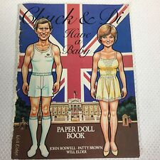 Vintage: Chuck And Di Have A Baby Paper Doll Book By Simon & Schuster 1982