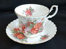 Pretty Royal Albert Bone China Teacup Tea Cup & Saucer Centennial Rose England