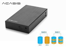 "New Acasis DT-S2 Aluminum Dual 2.5"" USB 3.0 to SATA HDD External Case ( Raid )"