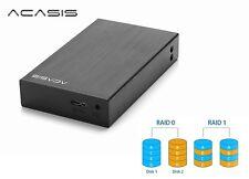 "New Acasis DT-S2 Aluminum Dual 2.5"" USB 3.0 to SATA HDD External Case ( Raid )"