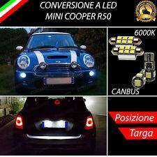 LUCI POSIZIONE A LED + LUCI TARGA A LED CANBUS MINI COOPER R50 NO ERROR