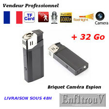 BRIQUET CAMÉRA CACHEE ESPION FULL HD 1080P + 32Go