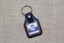Ford Fiesta XR2 Mk2 Keyring - Leatherette & Chrome keyfob