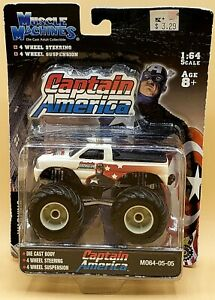 Muscle Machines CAPTAIN AMERICA, Bigfoot MO64-05-05, 1:64 Scale Truck