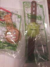 2010 Shrek Forever After McDonaldsToy Watch Shrek #1 & Gingy #2 Sealed 2 of Each