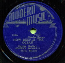 JOHNNY MOORE (How Deep Is The Ocean / You Showed Me) R&B/SOUL 78  RPM  RECORD