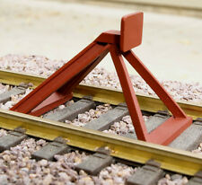 G-Scale Model Train Hayes-Style End-of-Track Bumper Red Oxide NEW