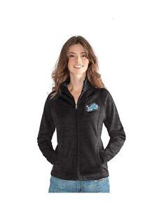 G-III 4her Detroit Lions Women's Hand Off Full Zip Jacket - Charcoal