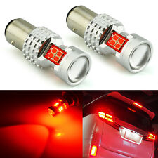 JDM ASTAR 2x 1157 BAY15D High Power 13-LED Brake Stop Tail Light Bulbs Lamp Red