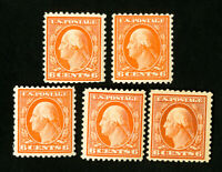 US Stamps # 506 F-VF Lot of 5 OG NH Catalog Value $125.00