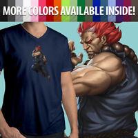 Capcom Street Fighter Akuma Gouki Martial Arts Villain Mens Tee V-Neck T-Shirt