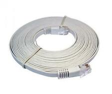 Cat6 RJ45 UTP Flat Network Cable / Patch Cable (Grey) 20m