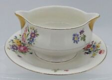 Theodore Haviland New York Pasadena Gravy Boat With Attached Under Plate Floral