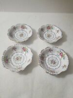 4 Royal Albert Petit Point Fan Shape Shell Dish Jam Candy