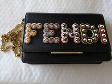 FENDI Embellished Genuine leather wallet-on-chain