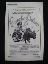 RANCHO DELUXE press book JEFF BRIDGES SAM WATERSON