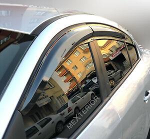 Fits Toyota Corolla 2007-2012 Wind-Sun-Rain Deflectors 4 pcs Visors Glossy Black