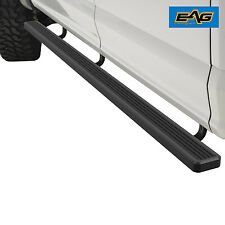 "EAG Black 86""x4"" Running Boards + Brackets for 10-15 Ram 2500/3500 Crew Cab"