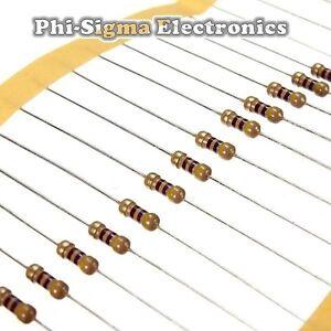 Carbon Film Resistors 1/4W 0.25W - Full Range of Values - Various Pack Sizes