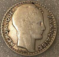 """1932 France 🇫🇷  Silver 10 Francs Coin """"Third Republic"""". free combined shipping"""