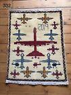 •332 • Beautifully Handmade  Genuine Afghan War Rug, 79x62 cm
