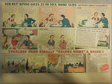 Rinso Soap Ad: New 1937 Rinso Soap has 25% - 50% More Suds Rinso Ad 1930's