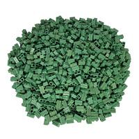 100 Sandgrüne Lego Steine 1x2 - Brick Mauersteine Neu Sandgrün - 98283