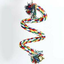 Adventure Bound Triple Hoops Cotton Rope Ring Swing Bird Toy for Medium Parrots