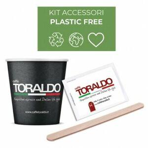 Kit Bio Caffè Toraldo  Zucchero, Bicchieri, Palette 150 PZ