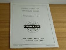 craftsman engine owners parts list model number 143.194062 sears roebuck and co.