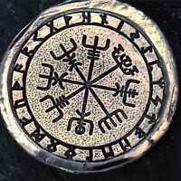 """1 Troy Oz  .999 FS MK BarZ Stamped """"Viking Symbols Round"""""""