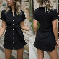 Short dress cocktail casual maxi beach Womens party summer short sleeve