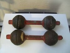 vtg WEIDER GO-GO BELLS DUMBBELLS bodybuilding crossfit YORK BARBELL antique GYM