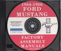 1964-1965-1966 Mustang CD Assembly Manual Set of 11 Body Chassis Electrical Ford