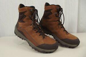 "Mens Merrell Icepack 8"" Polar Size 15 Waterproof Boots Oak Light Brown J95039"