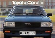 TOYOTA COROLLA Liftback Limousine Nippon Youngtimer Prospekt Brochure 1982 96